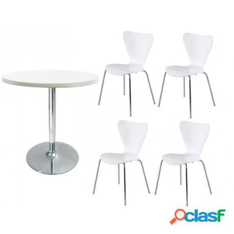 Conjunto mesa + 4 sillas jacob casa de hoy