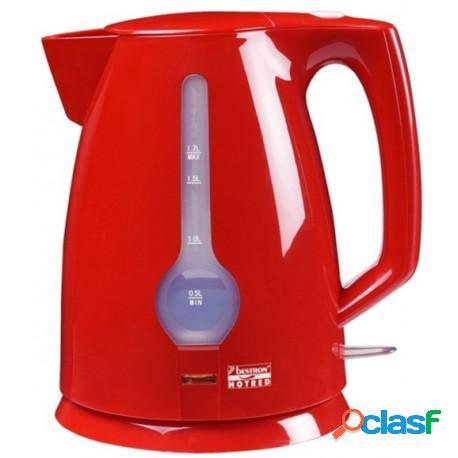 Hervidor de agua 1,7 litros color rojo