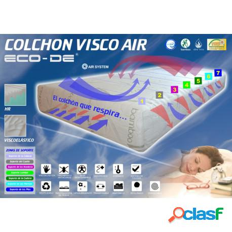 Colchón eco-de visco air con 6 cm de viscolastica