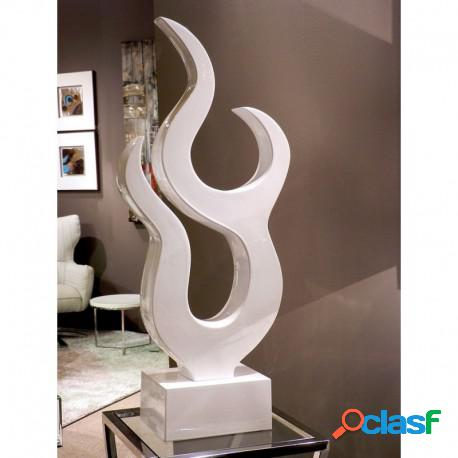 Escultura abstracta blanca alta casa de hoy