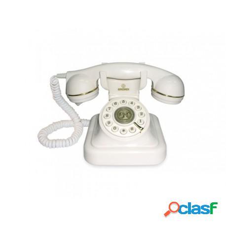Teléfono de sobremesa estilo retro blanco o negro casa de hoy