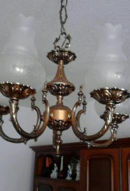 Lampara bronce comedor