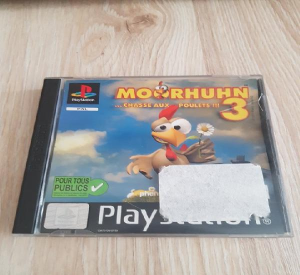 Ps1 psx play station moorhuhn 3 para g-con 45 pal