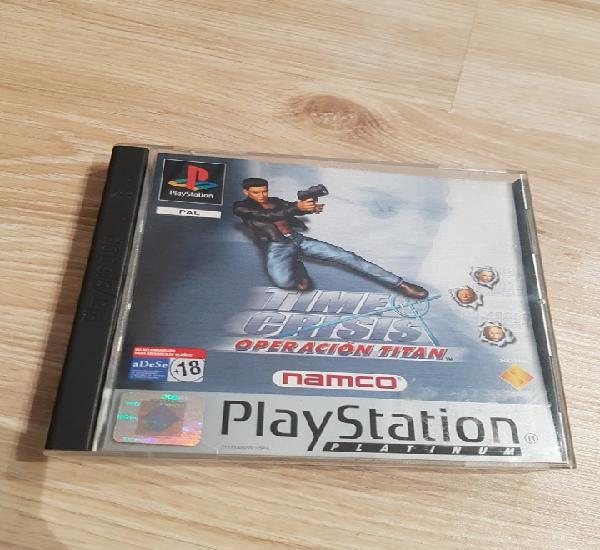 Ps1 psx play station time crisis project titan pal version