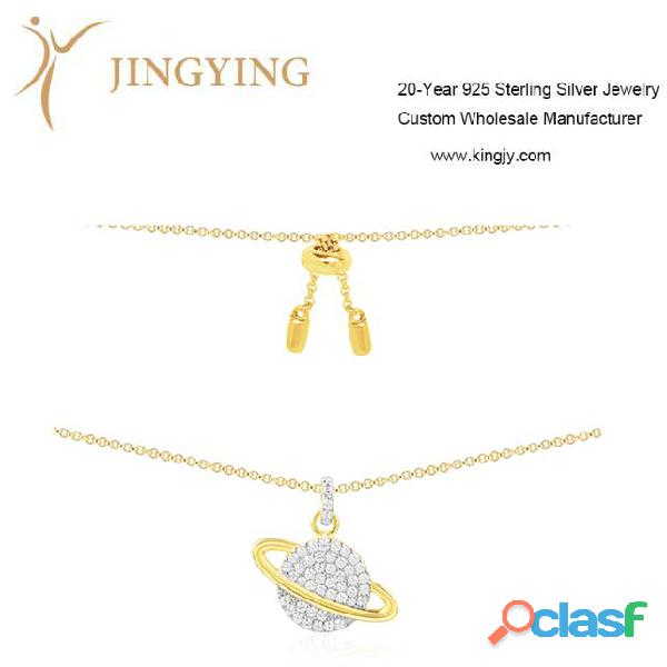 Collares anillos mayorista de joyas de plata esterlina