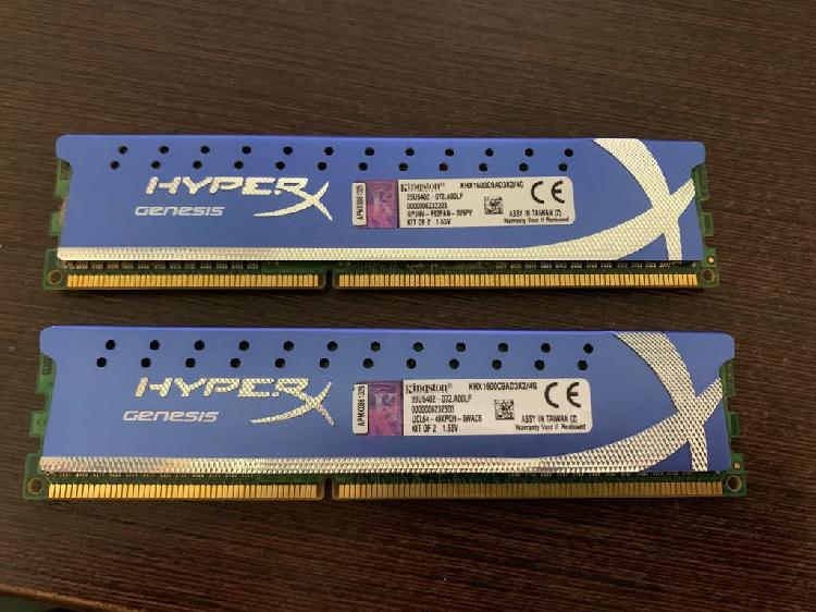 2 x ddr3 2gb memoria ram kingston