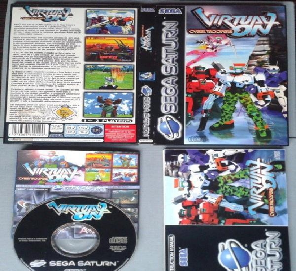 JUEGO SEGA SATURN VIRTUAL ON CYBER TROOPERS BOXED COMPLETO