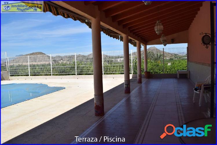 Casa rural cercana a santomera, ideal para negocio, fiestas, celebraciones, piscina y zona de recreo