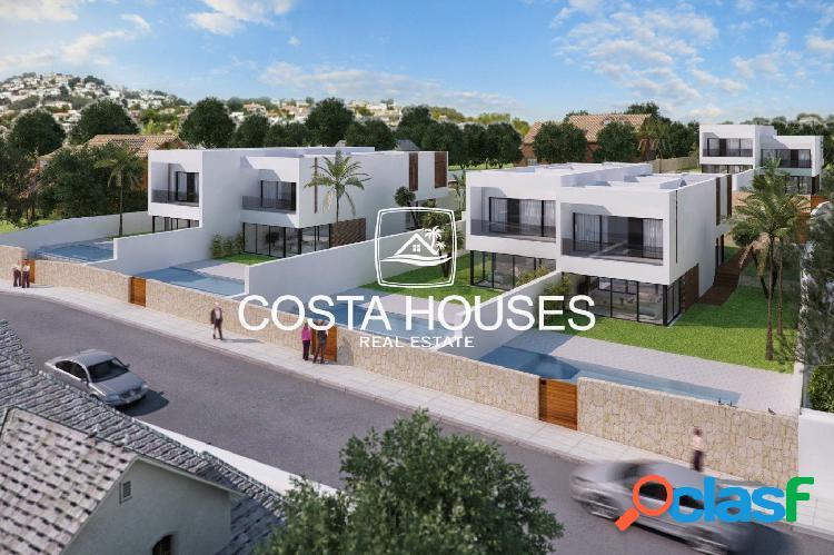 Villas en residencial de lujo con vistas al mar en moraira · cometa | 6 villas con piscina propia