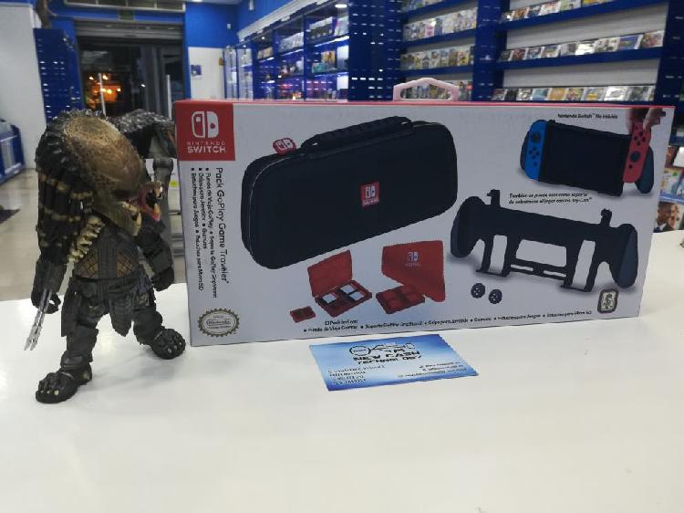 Pack go play traveler nintendo switch impecable