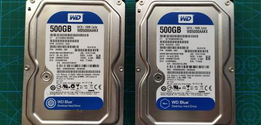 2 hdd sata wd 500gb