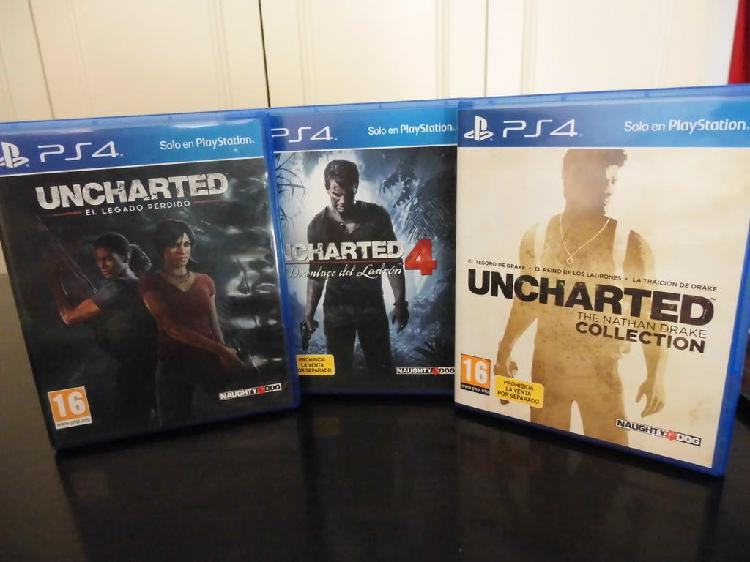 Pack uncharted para ps4