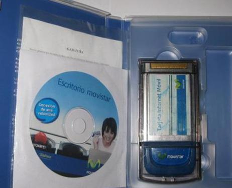 Pcmcia huawei e612 internet movil(libre)