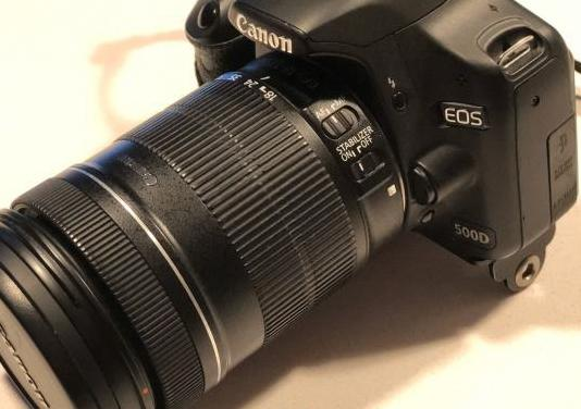 Canon eos 500d objetivo 18-135 is