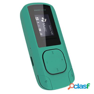 Energy sistem mp3 clip 8gb radio sd menta, original de la marca energy sistem