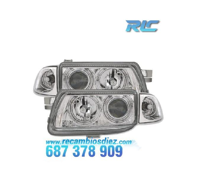 Faros opel astra f angel eyes cromo