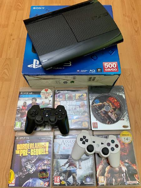Play station 3 ps3 500 gb - mandos - juegos