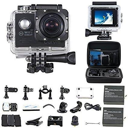 Camara deportiva hd 1080 12mp+estuche de transport
