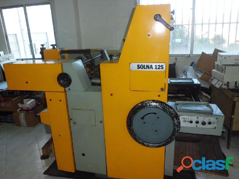 Maquina imprenta offset solna 125