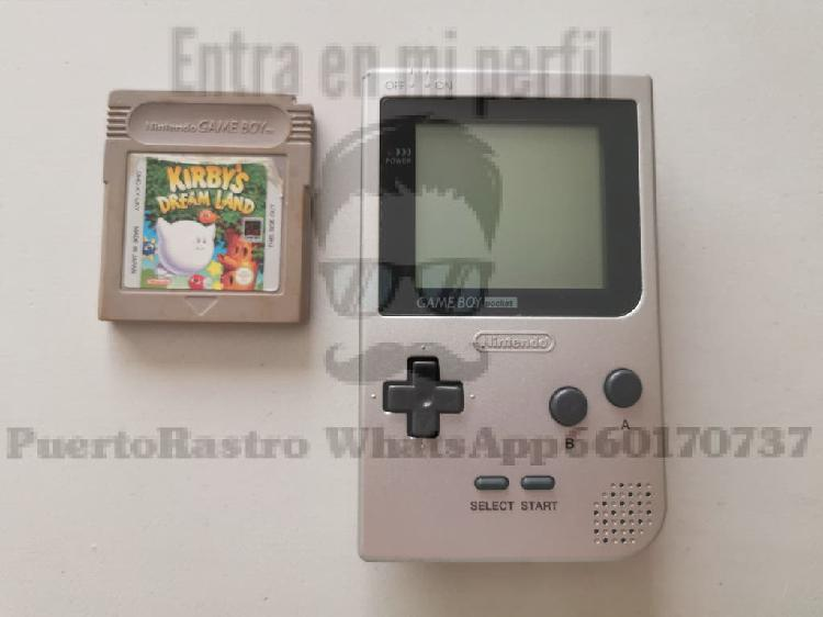 Consola game boy pocket + juego kirby's dream land