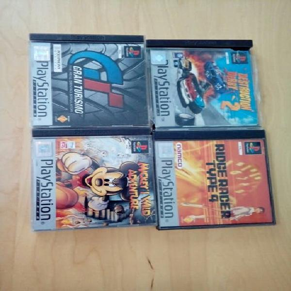 Lote 4 juegos psx sony