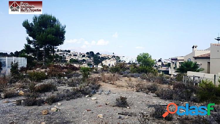 Parcela urbana en la nucia en urbanizacion montecasino