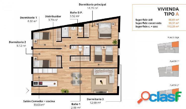 Nueva promocion de viviendas con piscina, garaje y trastero en pleno centro de jerez!!!