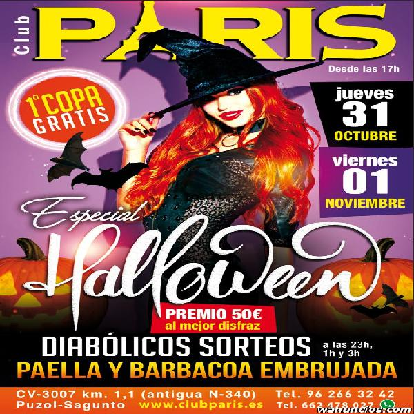 ESPECIAL HALLOWEEN EN STRIP CLUB SHOWGIRLS PARIS SAGUNTO