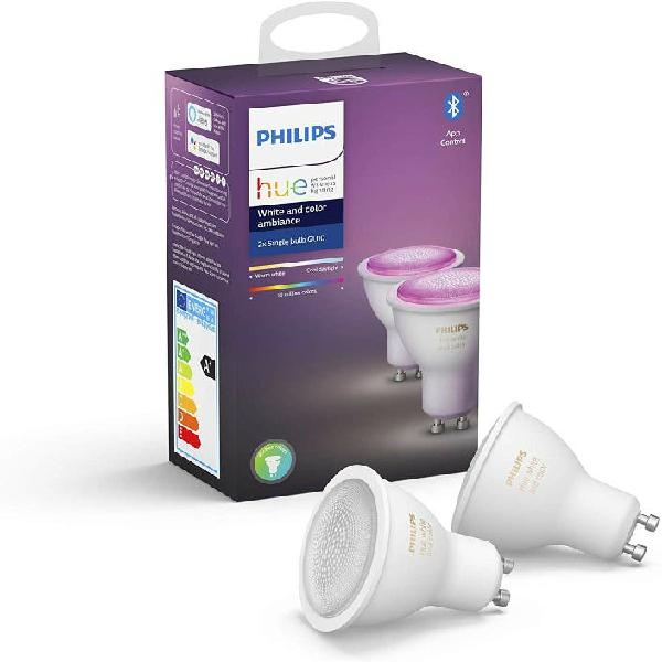 Philips hue white & color ambiance pack 2 bombilla