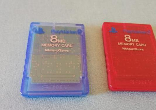Memory cards play station 2