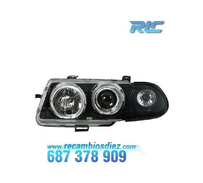 Faros opel astra f angel eyes negro