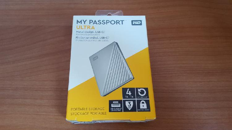 Disco duro externo wd my passport 4tb