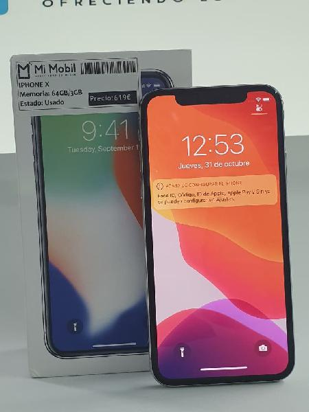 Apple, iphone x 64gb silver - usado impecable
