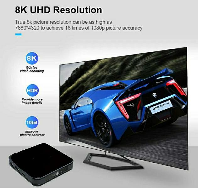 Android tv box s905x3 +10x 8k plus