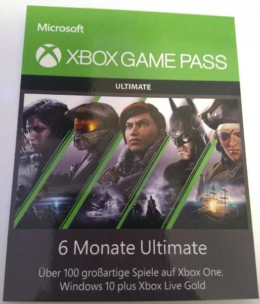 Game pass utimate 6 meses