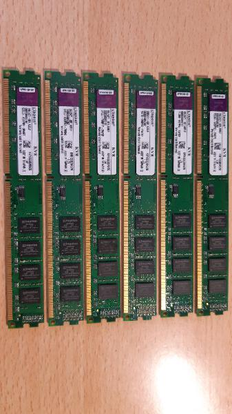 6x memorias ram ddr3 2gb 1333mhz kingston