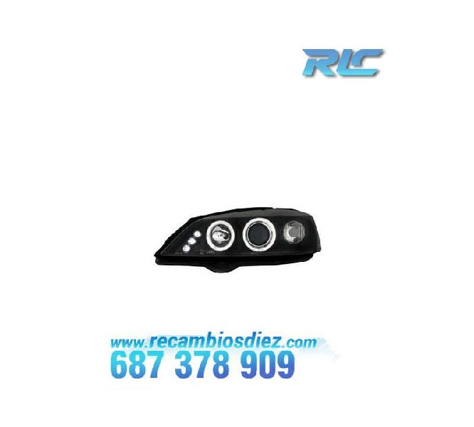 Faros opel astra g angel eyes negro
