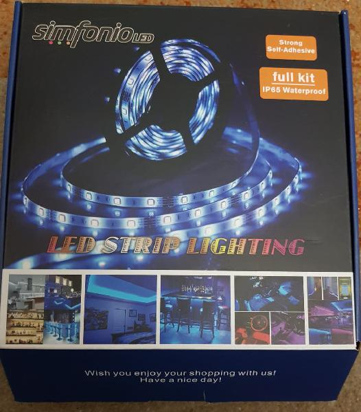Tira de luz impermeable ip65 led strip rgb 5 metro