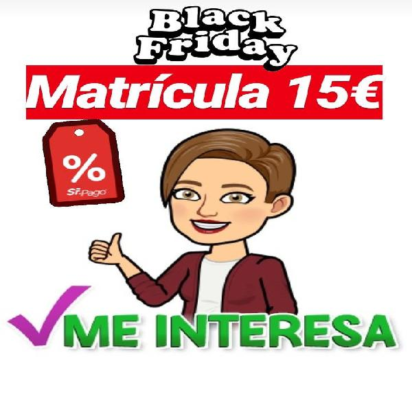Clases ¡black friday!