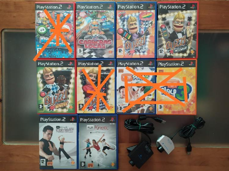 Juegos buzz y eye toy ps2