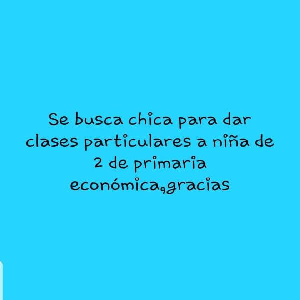 Busco chica clases particulares