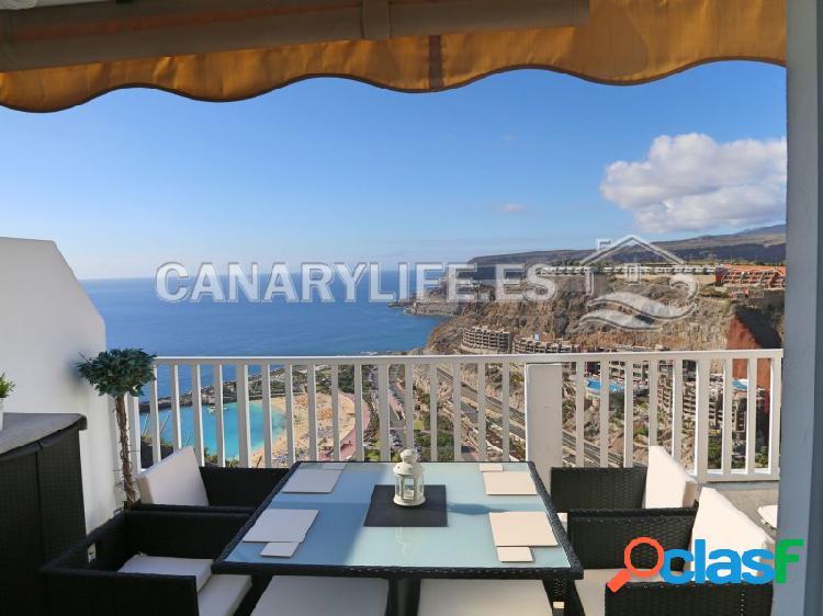 Apartamento reformado con vistas espectaculares en la playa de amadores, mogán