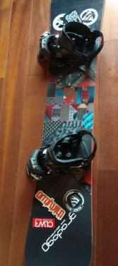 Burton tabla y fijaciones snow