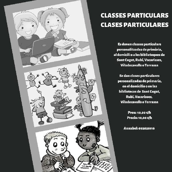 Classes particulars / clases particulares
