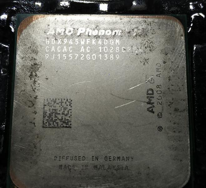 Cpu amd phenom ii 945 x4 quad core 3.0ghz am3