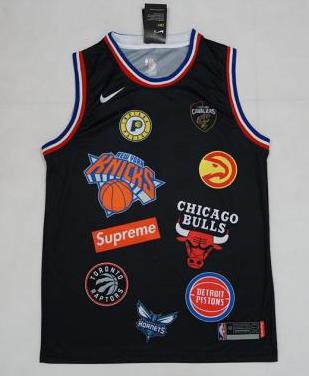 Camiseta nba chicago bulls x supreme 94 black