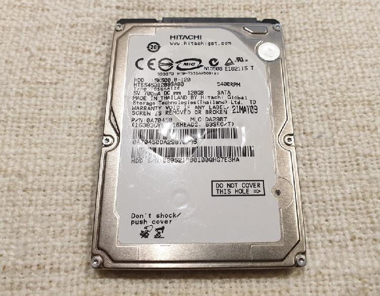 Disco duro hdd hitachi hts545012b9sa00 5k500 120gb
