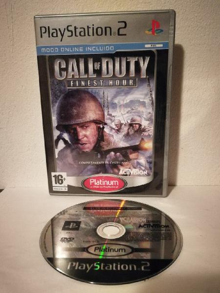 Juego PS2 Call of Duty Finest Hour Platinum