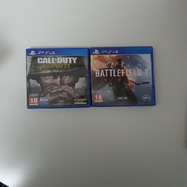 Pack ps4 call of duty ww2 + battlefield 1