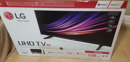 "Television led lg 43"" 4k smart tv"